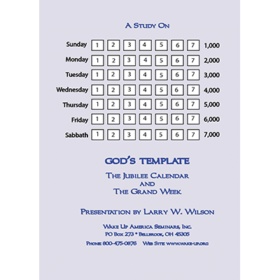 DVD Explanation for The Jubilee Calendar & The Grand Week - God's Template